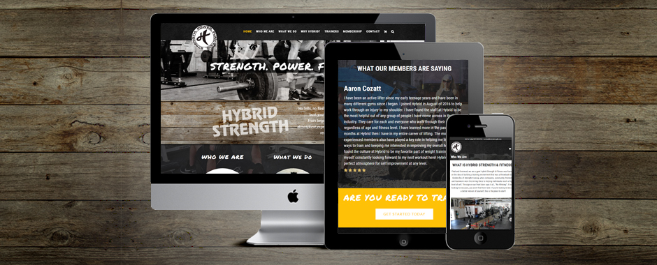 Hybrid Fitness - Website Design