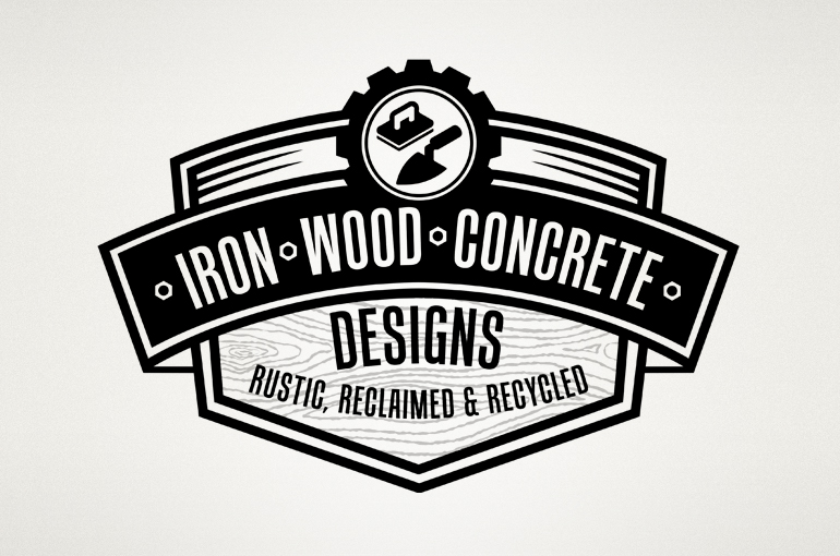 Iron Wood Concrete Designs Logo Design