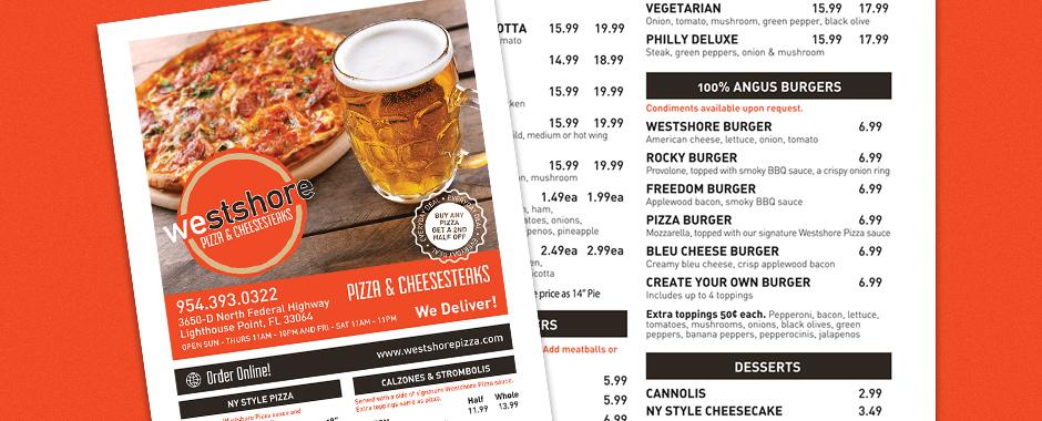 Dayton Graphic Design - Westshore Pizza